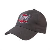 Charcoal Heavyweight Twill Pro Style Hat-Troy Trojans Shield