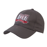 Charcoal Heavyweight Twill Pro Style Hat-Troy Trojans Wide Shield