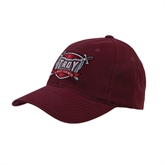 Maroon Flexfit Mid Profile Hat-Troy Trojans Shield
