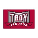 Small Magnet-Troy Trojans Wide Shield, 6 in W