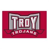 Large Magnet-Troy Trojans Wide Shield, 12 in W