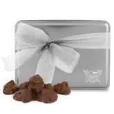 Decadent Chocolate Clusters Silver Large Tin-Troy Trojans Shield Engraved