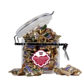 Snickers Satisfaction Round Canister-Troy Trojans Shield