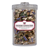 Snickers Satisfaction Large Round Canister-Troy Trojans Shield
