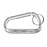Silver Carabiner with Split Ring-Troy Trojans Engraved