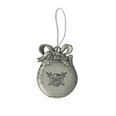 Silver Bulb Ornament-Troy Trojans Shield Engraved