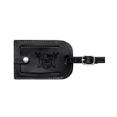 Millennium Leather Luggage Tag-Troy Trojans Shield Engraved