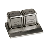 Icon Action Dice-Troy Trojans Engraved