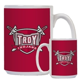 Full Color White Mug 15oz-Troy Trojans Shield