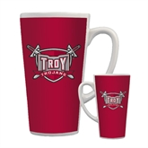 Full Color Latte Mug 17oz-Troy Trojans Shield