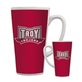 Full Color Latte Mug 17oz-Troy Trojans Wide Shield