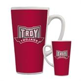Full Color Latte Mug 17oz-Troy Trojans Wide Shield