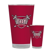 Full Color Glass 17oz-Troy Trojans Shield