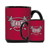 Full Color Black Mug 15oz-Troy Trojans Shield
