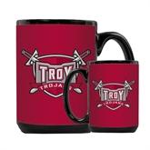 Full Color Black Mug 15oz-Troy Trojans Shield