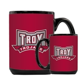 Full Color Black Mug 15oz-Troy Trojans Wide Shield