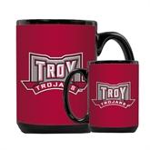Full Color Black Mug 15oz-Troy Trojans Wide Shield