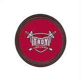 Round Coaster Frame w/Insert-Troy Trojans Shield