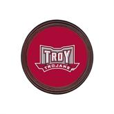 Round Coaster Frame w/Insert-Troy Trojans Wide Shield