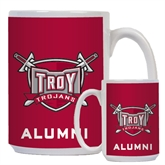 Alumni Full Color White Mug 15oz-Troy Trojans Shield