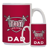 Dad Full Color White Mug 15oz-Troy Trojans Shield