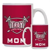 Mom Full Color White Mug 15oz-Troy Trojans Shield