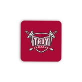 Hardboard Coaster w/Cork Backing 4/set-Troy Trojans Shield