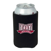 Neoprene Black Can Holder-Troy Trojans Wide Shield