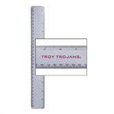 12 Inch White Plastic Ruler-Troy Trojans