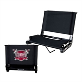 Stadium Chair Black-Troy Trojans Shield