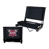 Stadium Chair Black-Troy Trojans Shield