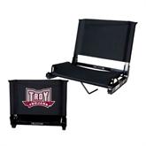 Stadium Chair Black-Troy Trojans Wide Shield