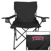 Deluxe Black Captains Chair-Arched Troy
