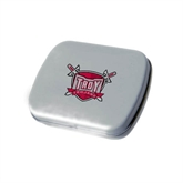 Silver Rectangular Peppermint Tin-Troy Trojans Shield