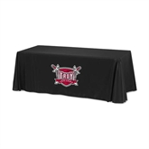 Black 6 foot Table Throw-Troy Trojans Shield