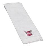 White Golf Towel-Troy Trojans Shield