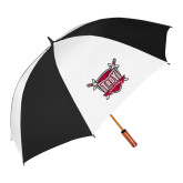 62 Inch Black/White Umbrella-Troy Trojans Shield