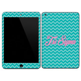 iPad Mini 3 Skin-Seaglass Chevron Pattern