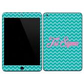 iPad Mini 3 Skin-Seaglass Chevron Pattern