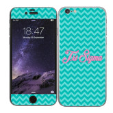 iPhone 6 Skin-Seaglass Chevron Pattern