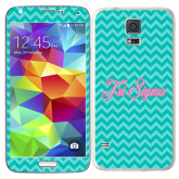 Galaxy S5 Skin-Seaglass Chevron Pattern