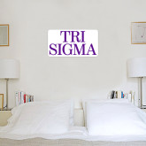 1 ft x 1 ft Fan WallSkinz-Tri Sigma Stacked - Official