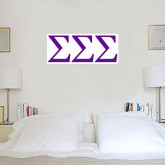 1 ft x 2 ft Fan WallSkinz-Greek Letters - One Color