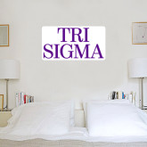 2 ft x 2 ft Fan WallSkinz-Tri Sigma Stacked - Official