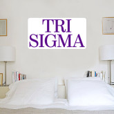 3 ft x 3 ft Fan WallSkinz-Tri Sigma Stacked - Official