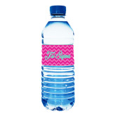 Water Bottle Labels 10/pkg-Pink Chevron Pattern