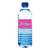 Water Bottle Labels 10/pkg-Pink Chevron Pattern