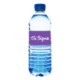 Water Bottle Labels 10/pkg-Purple Dot Pattern