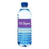 Water Bottle Labels 10/pkg-Purple Dot Pattern