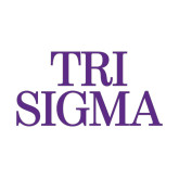 Medium Decal-Tri Sigma Stacked - Official, 8 inches wide
